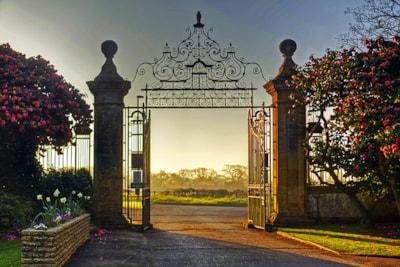 Entrance to South Lytchett Manor