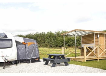 En suite pitches at Smytham Holiday Park