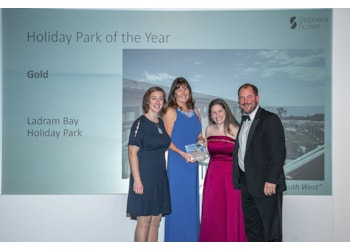 Family's joy as Ladram Bay is declared Devon's top park