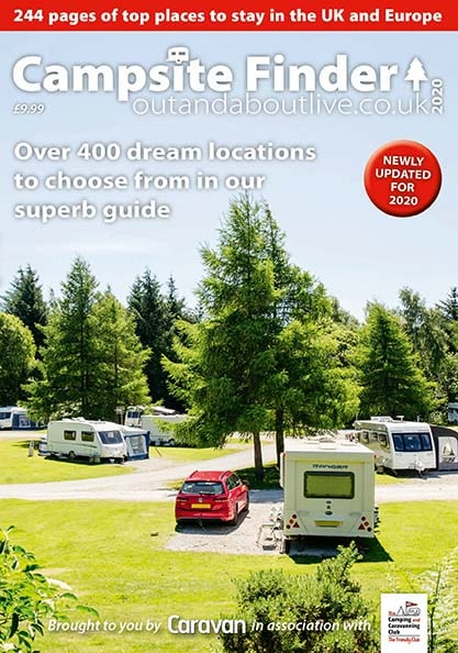 Get the latest edition of the Campsite Finder guide with the March issue of Caravan magazine