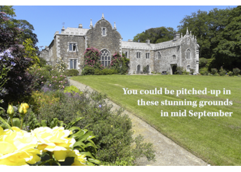 September pitch availability for a top site in Cornwall