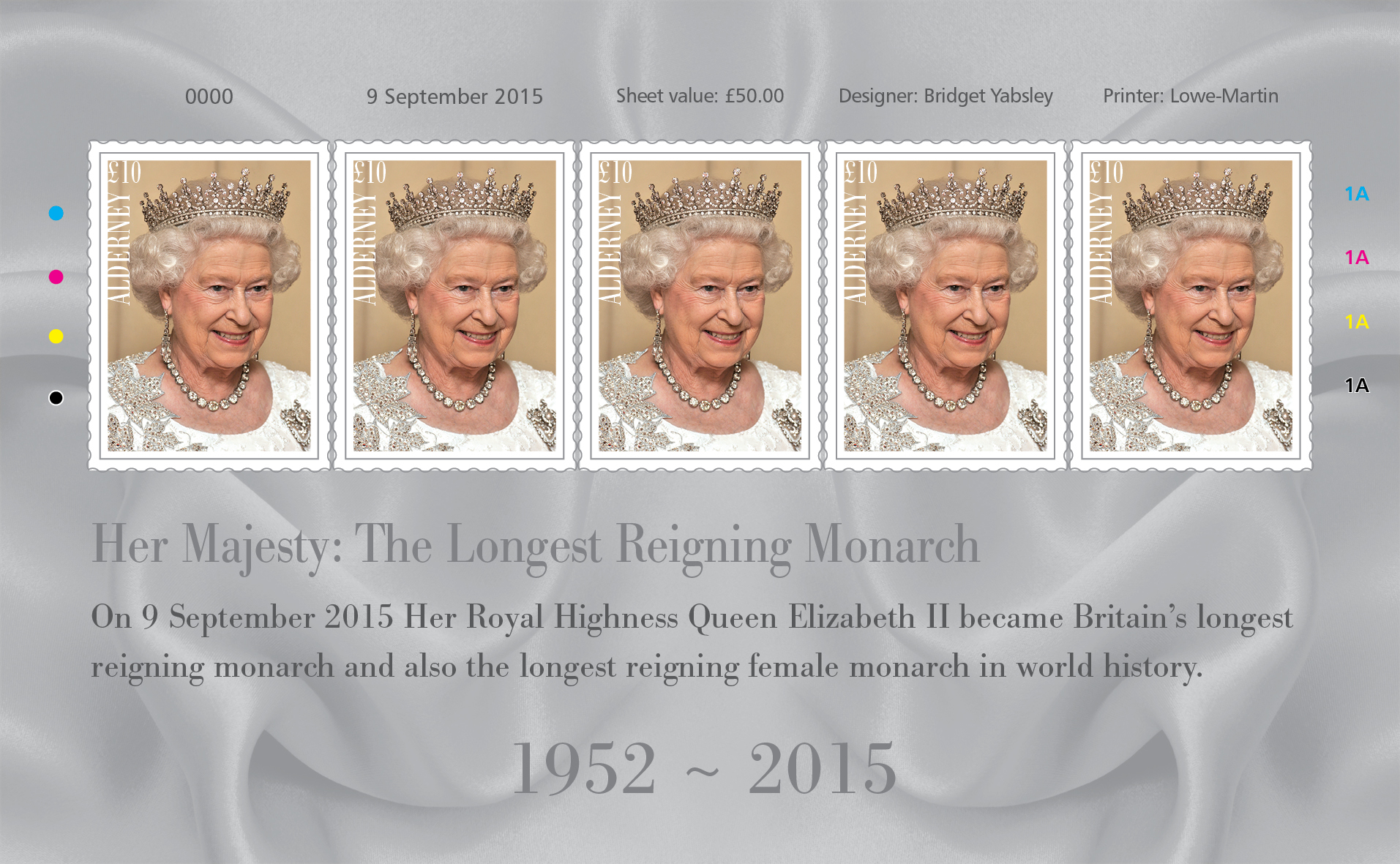 Free Gift: Queen's Longest Reign Stamp Set