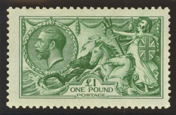 1913 £1 seahorses stamp