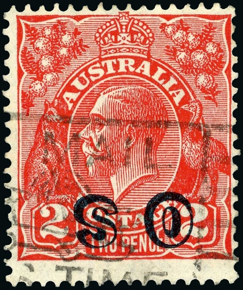 Australian 1932 OS overprint, Image courtesy of Spink
