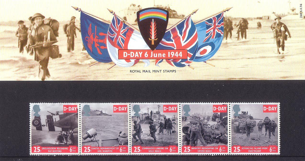 1994 D-Day Landings Stamp Set