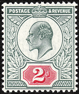 King Edward VII 2d Stamp 34363