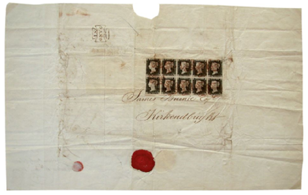 Kirkcudbright-Penny-Black-first-day-cover-30538.png