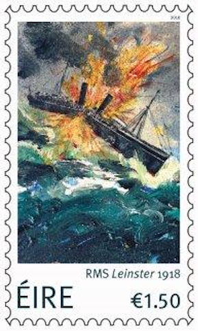 RMS Leinster stamp from An Post, Ireland
