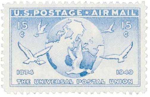 USA UPU stamp 1949 15c