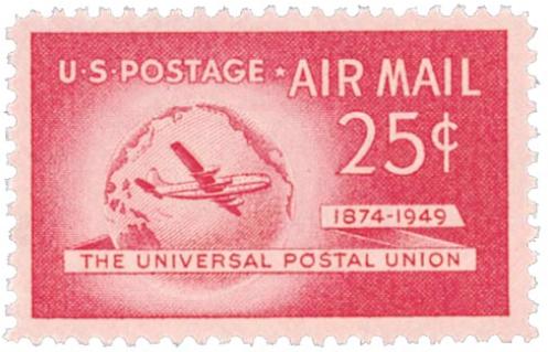 USA UPU stamp 1949 25c