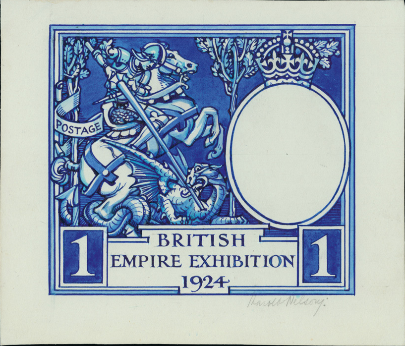 Wembley 1924 stamp sketch - courtesy Grosvenor Philatelic Auctions