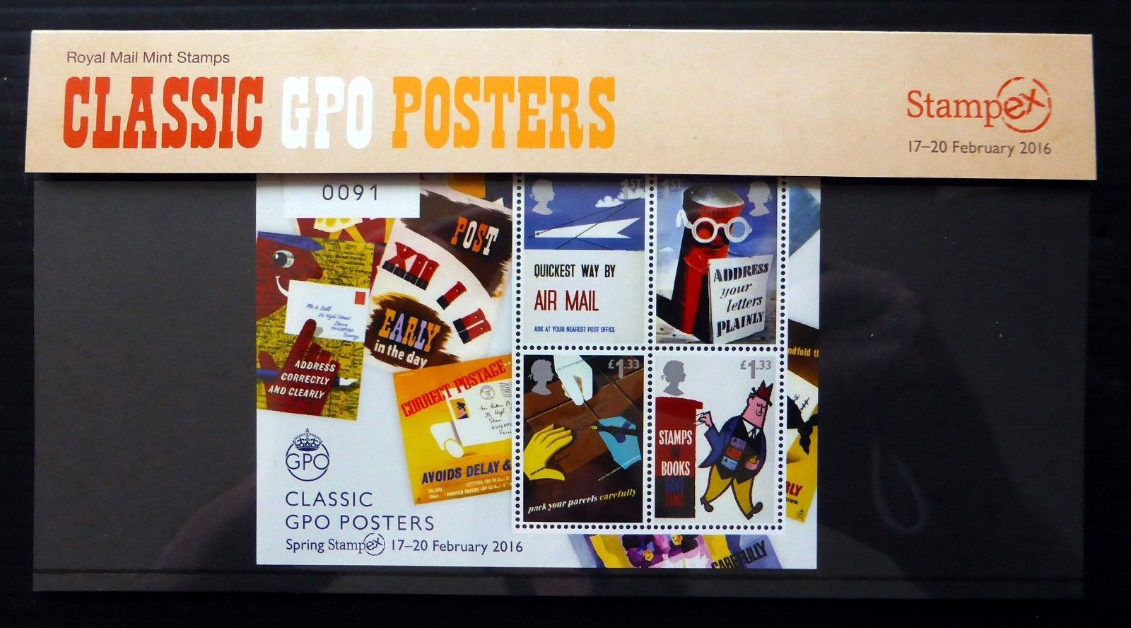 Classic GPO Posters Stampex miniature sheet