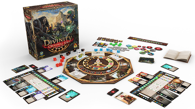 Divinity Original Sin 2 The Board Game Components and Box
