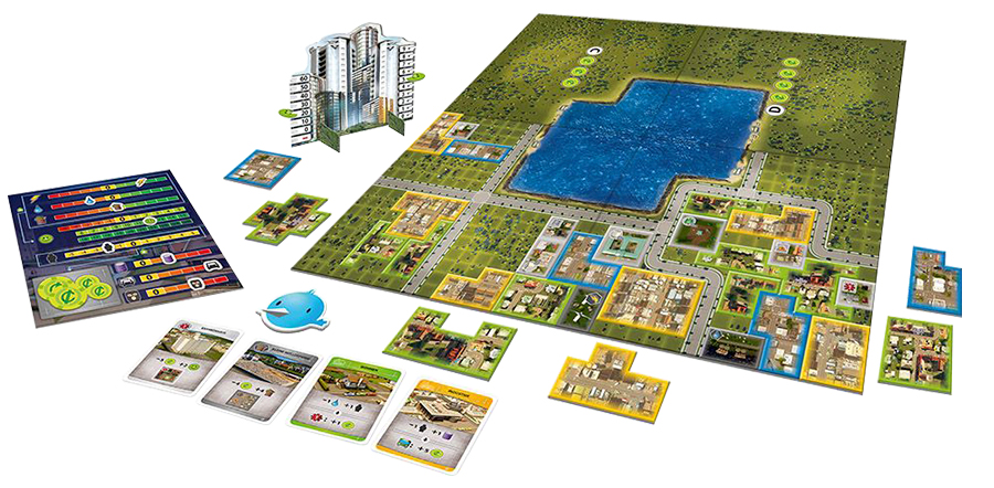 Cities: Skylines components and board