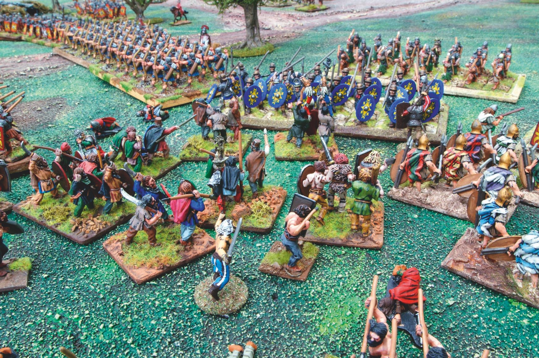 A few desperate tribesmen mount a last counter-attack against the Romans.