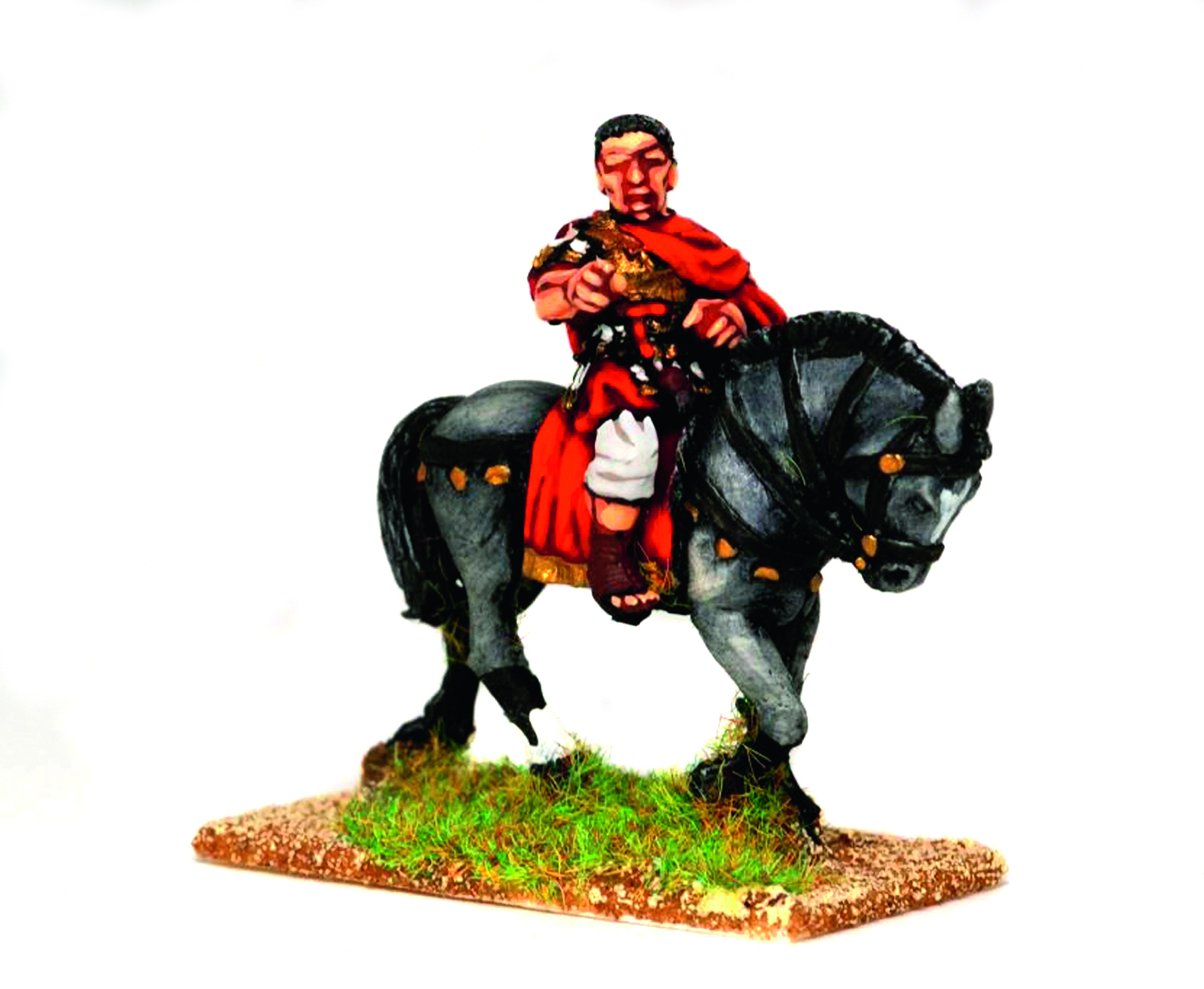 """Litorius atop a black horse says, """"your Emperor needs you, you too can be one of the best.."""""""