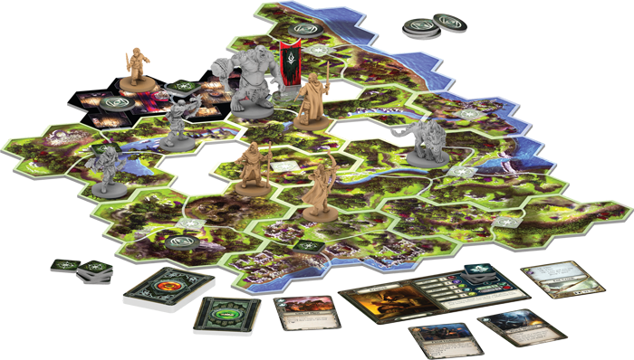 The Lord of the Rings: Journeys in Middle-Earth board set up