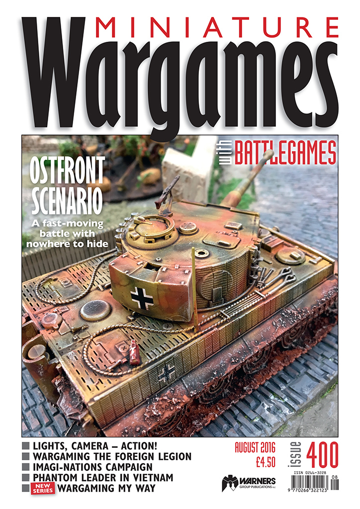 Miniature Wargames with Battlegames issue 4500 front cover