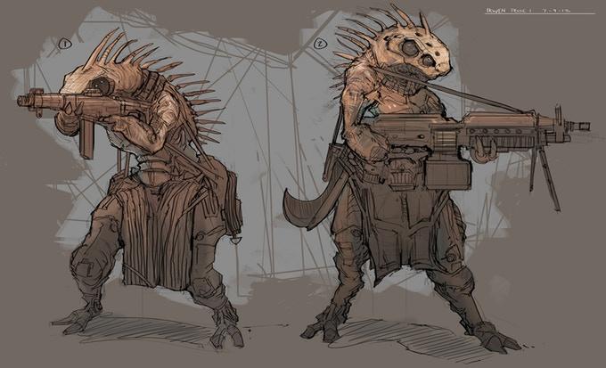 Sci Fi Ninja Concept Art
