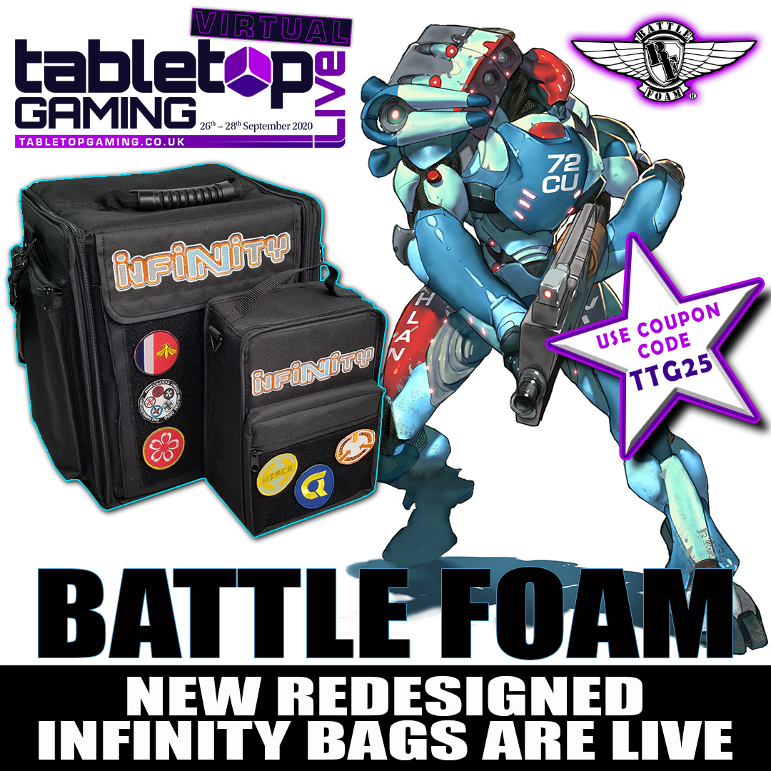Infinity Bags Virtual Tabletop Gaming Live Tabletop Gaming Tokens in the command board can be either standing or flat for storage. tabletop gaming