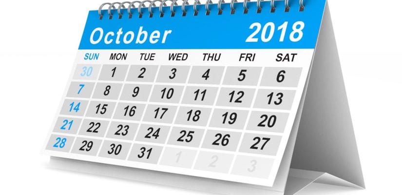 September - October 2018 Capacity Update