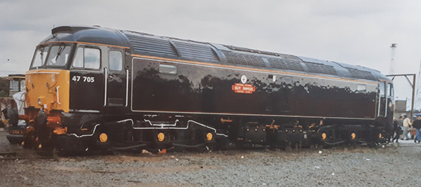 Class 47705 Guy Fawkes Waterman Railways