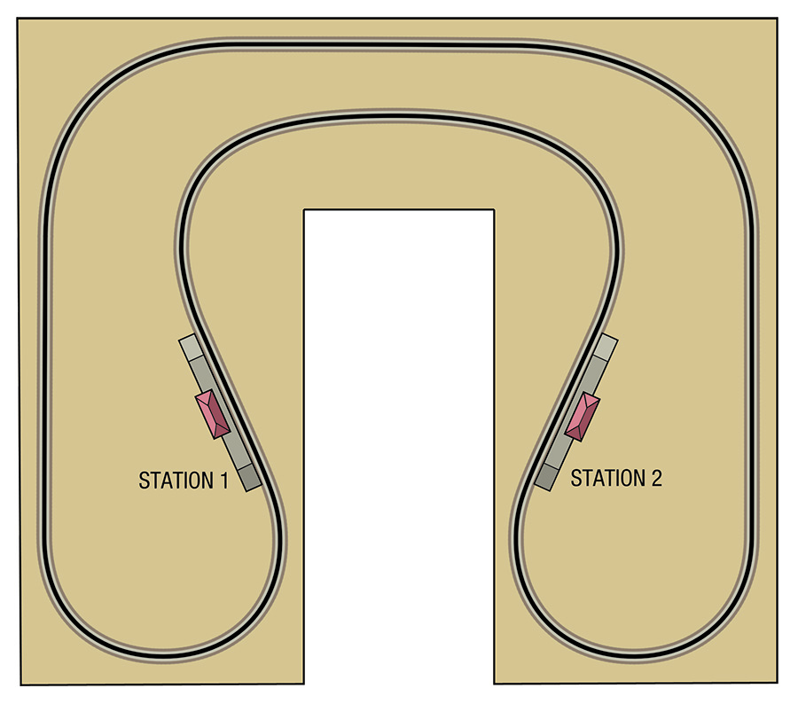 How to build a model railway horseshoe track plan
