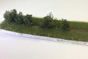 building model railway hedge