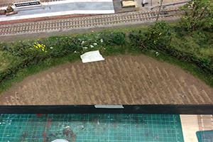 planting strips on model railway