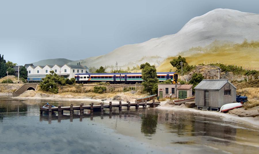 Class 158 Loch Tat N gauge layout water