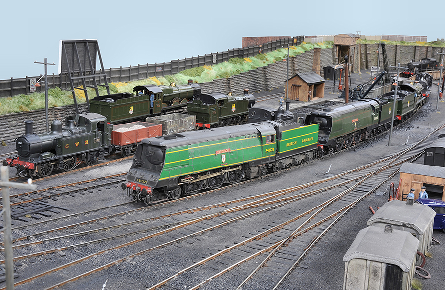 82G O gauge shed layout