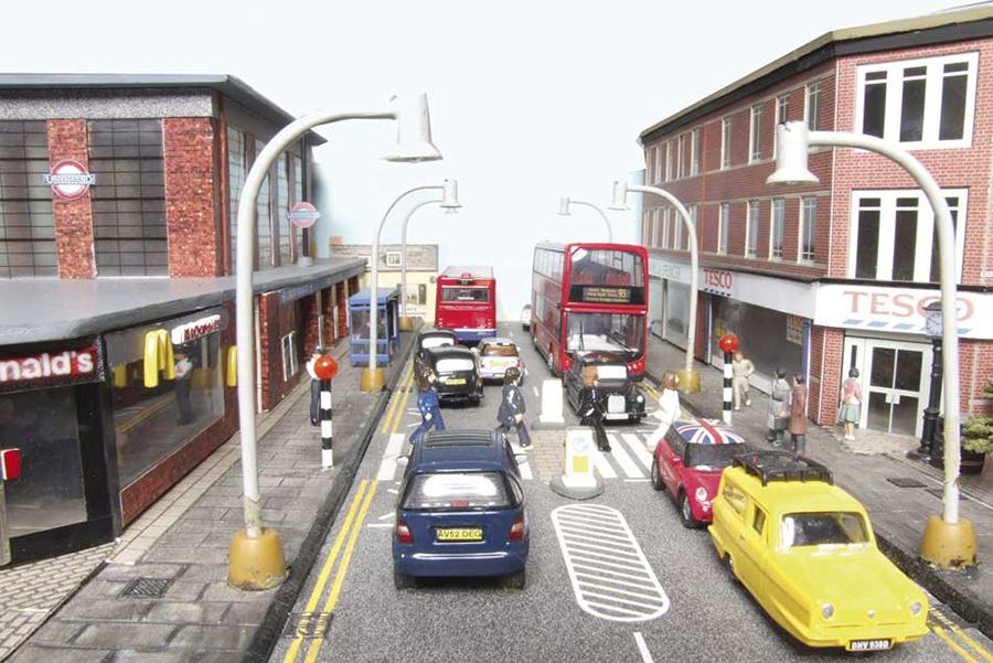 Abbey Road station OO gauge model railway Underground