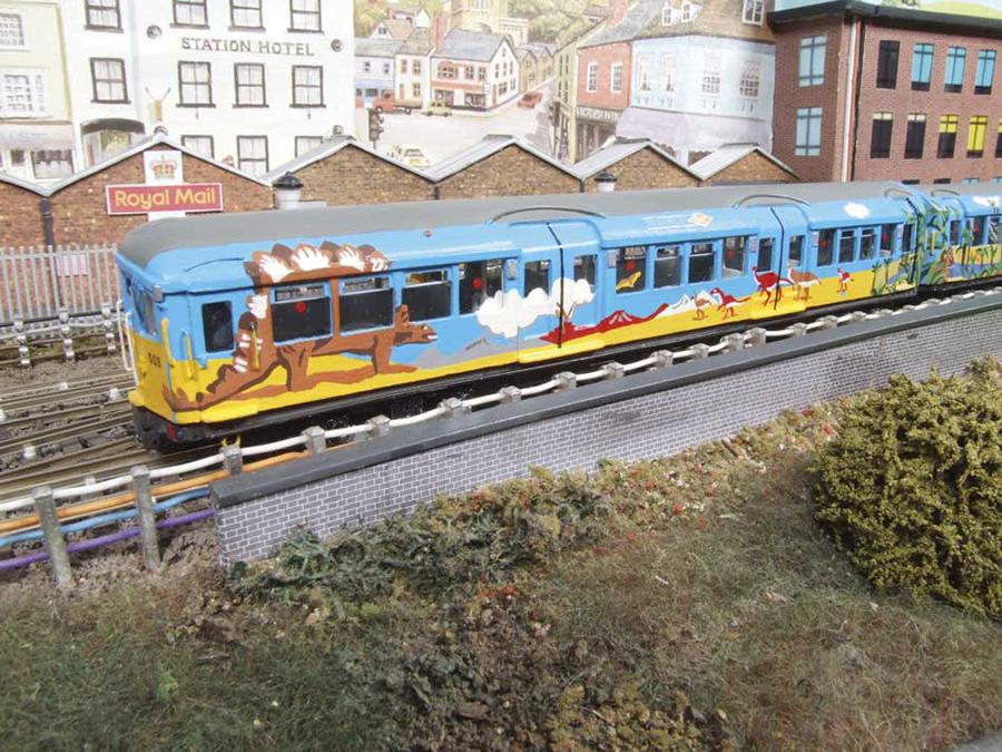 Abbey Road Graffiti OO gauge model railway Underground