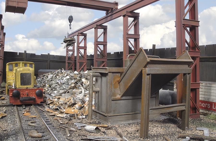 Albion Metals shunter scrap pile