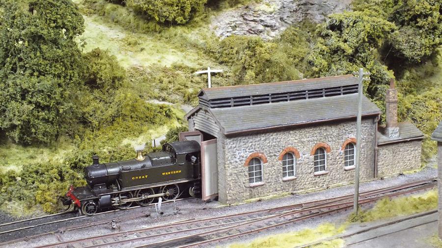 GWR Ashburton Prarie Locomotive shed