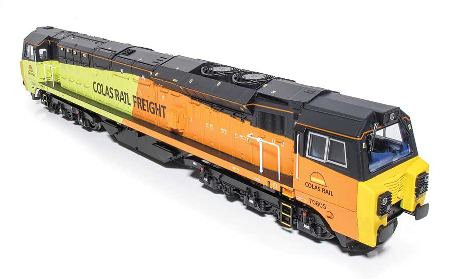 The roof detail on Bachmann Class 70 model locomotive
