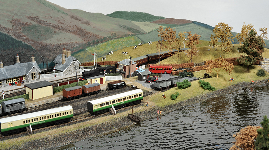 Bassenthwaite lake station N gauge scenery