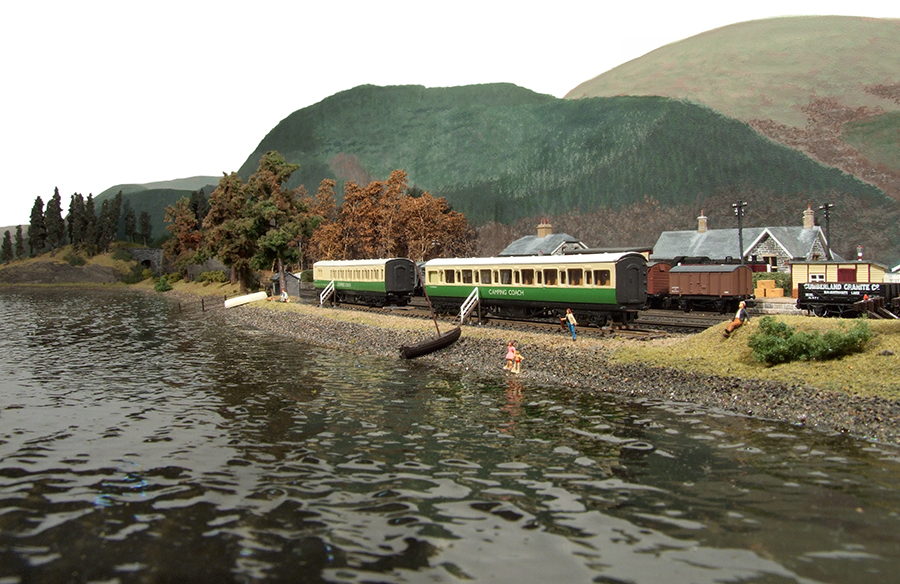 Lake District Model railway camping