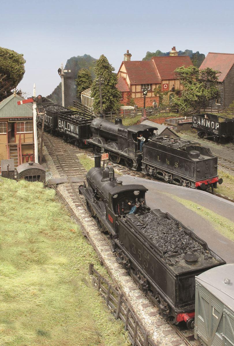 Broom Junction MR 2F coke train 4F No. 4454