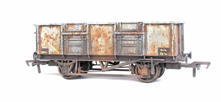 Weathered model wagon