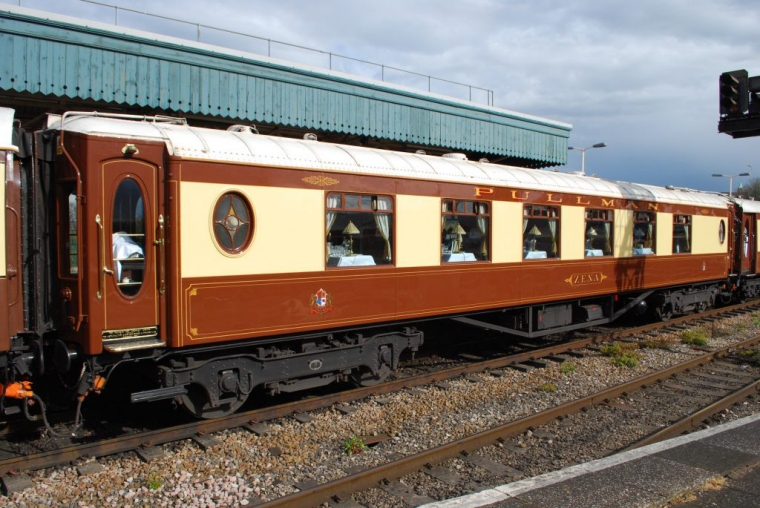 """Parlour First """"Zena"""" in the VSOE set at Bristol Temple Meads in April 2012. Photo courtesy of Hugh Llewelyn, Creative Commons CC BY-SA2.0 licence"""