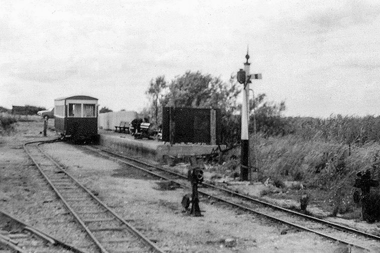 it could have been a scene on one of a Lincolnshire's agricultural light railways a century ago – a Motor Rail 'Simplex' diesel (LCLR's No. 1, Motor Rail 3991/1926) running over the point controlling the run-round loop at the approach to Humberston Beach terminus – and hardly a soul in sight.