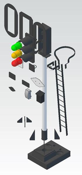 Routemex colour light signal O gauge
