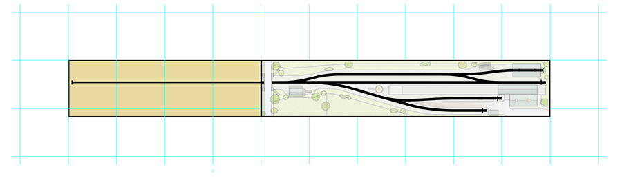 How to draw a model railway track plan step one
