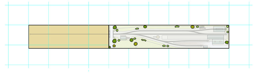How to draw a model railway track plan add vegetation and cameos