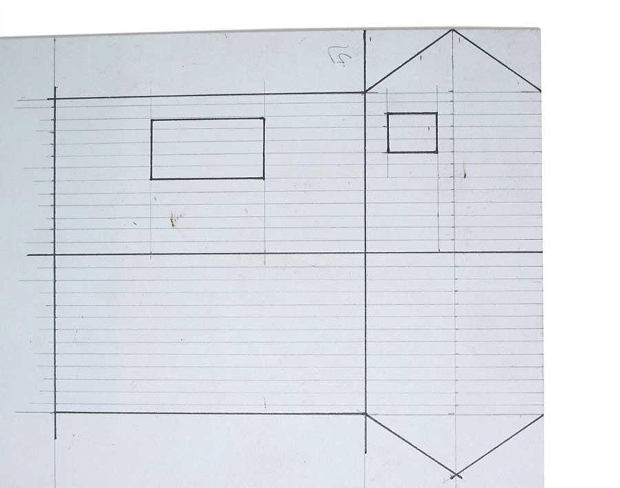 mark out cardboard model building