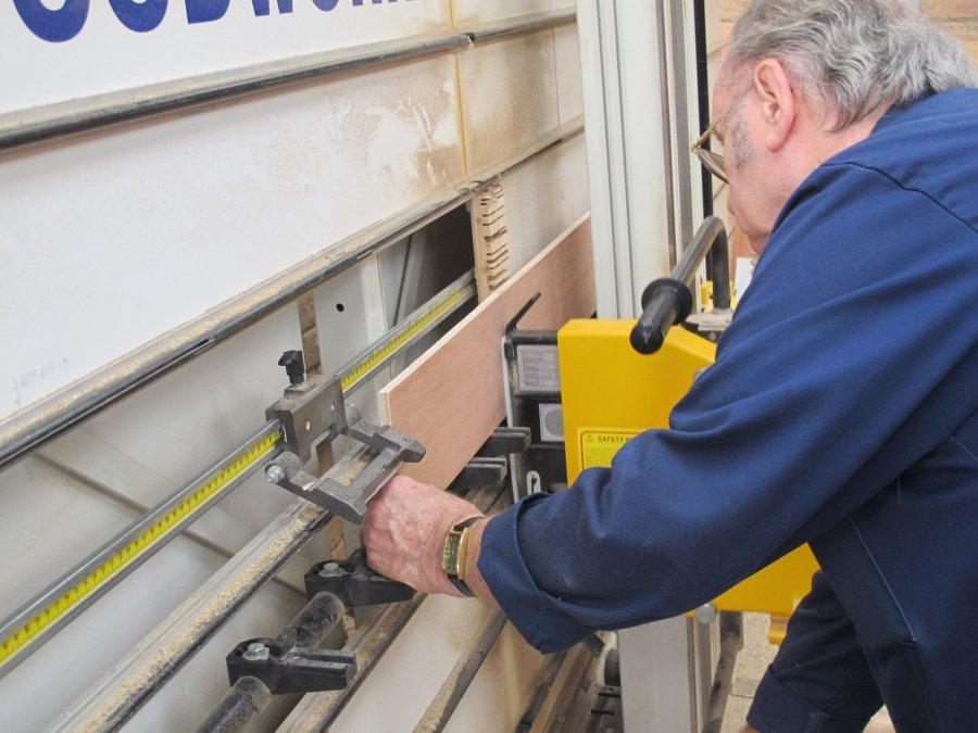 Cutting baseboard wood