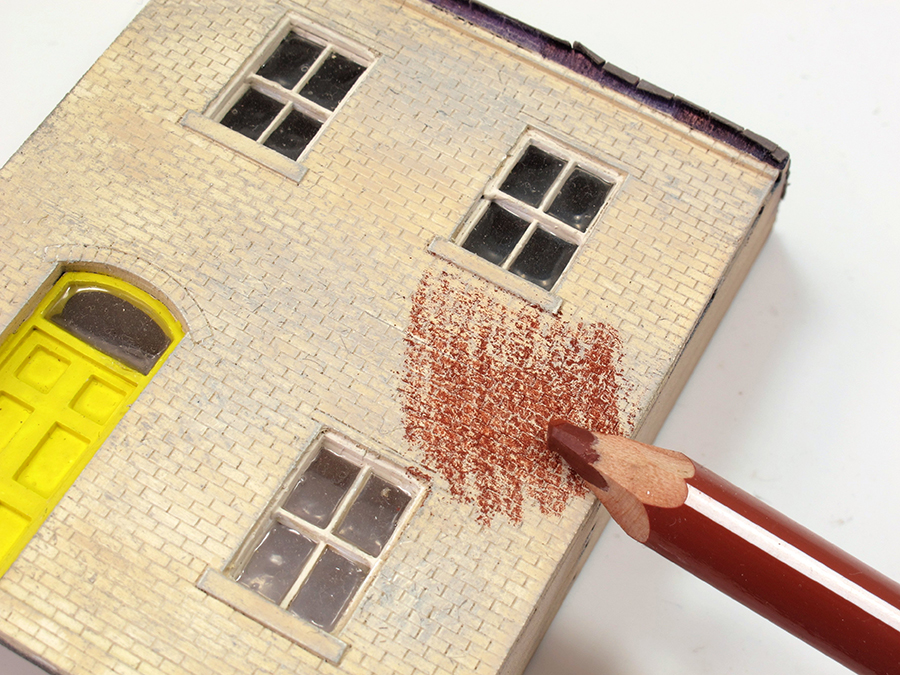 How to paint laser cut brickwork 3