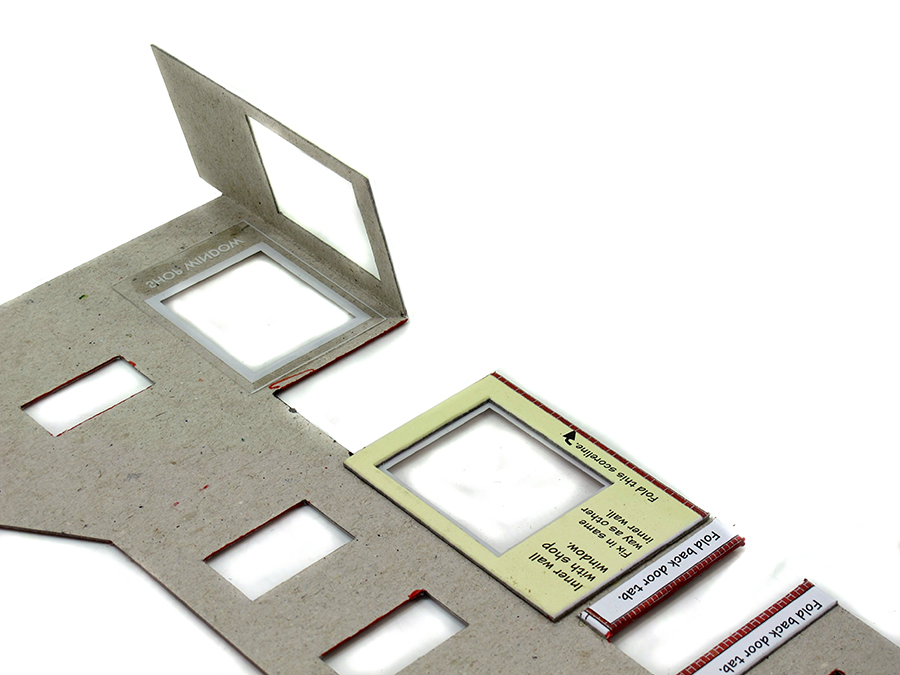 How to build a card kit, model railway, Metcalfe, fit windows