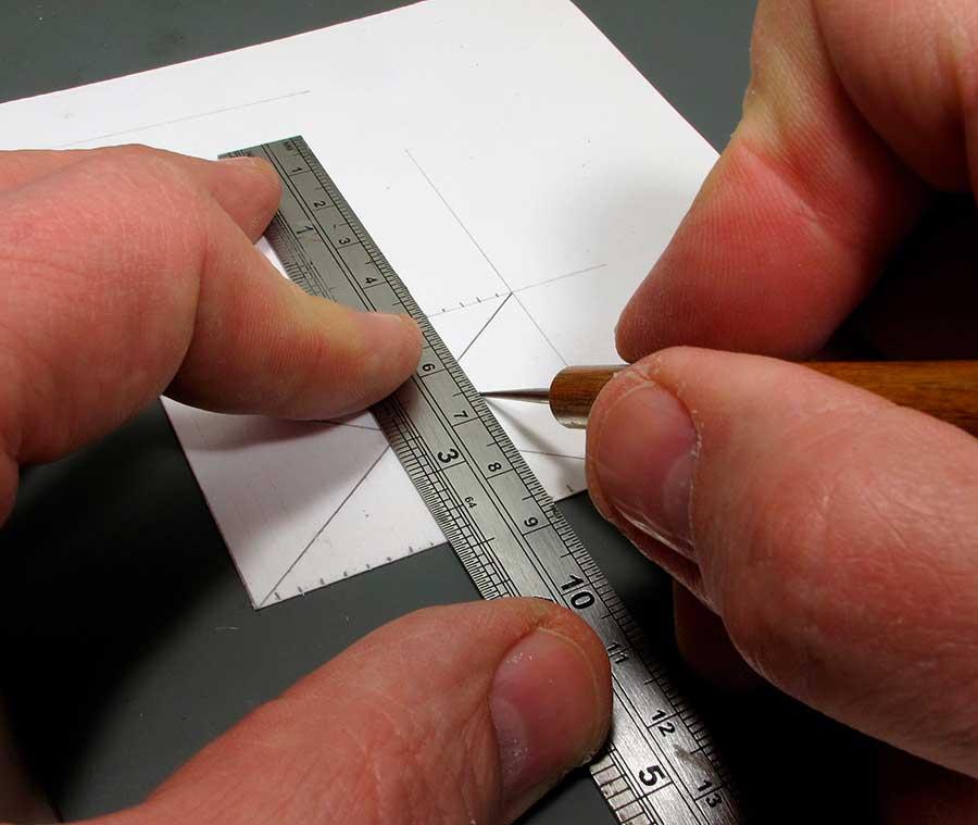 cutting model cardboard office